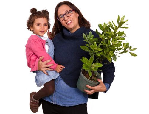 Maria Inês Rijo (com a mãe, Adriana Castro)